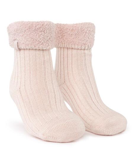 1 paar Cosy rib sokken, Roze