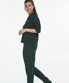 Pyjama broek woven jacquard, Groen