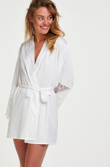 Hunkemoller Kimono satijn Bridal Wit