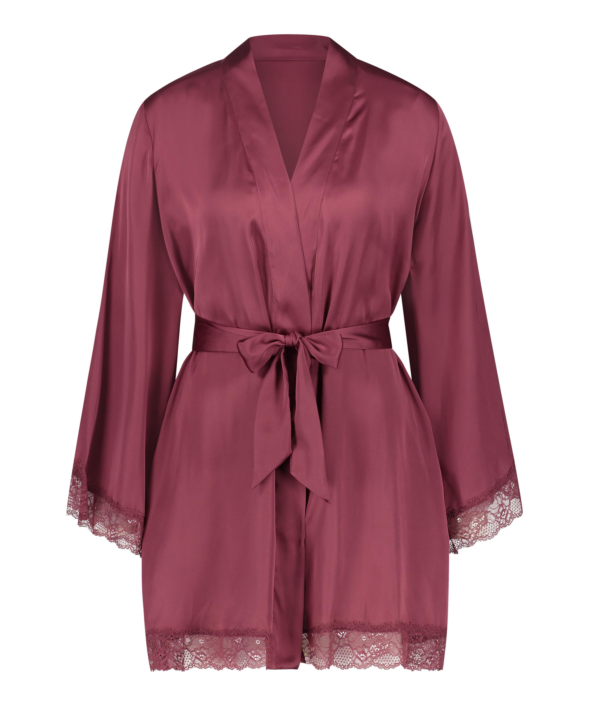 Kimono satin meili, Rood, main