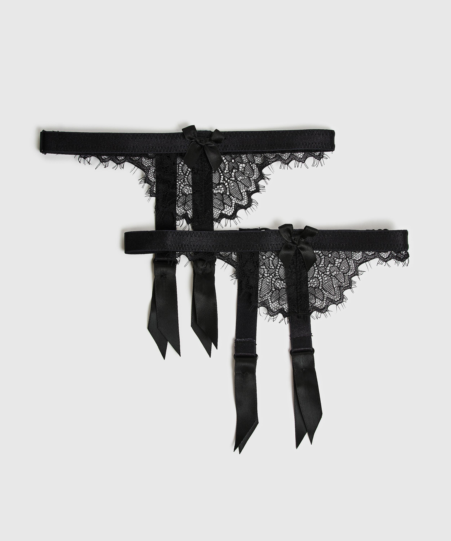 Suspender cuffs, Zwart, main