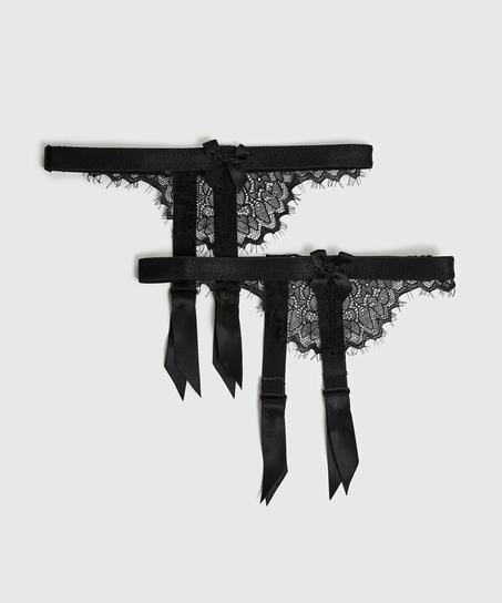 Suspender cuffs, Zwart