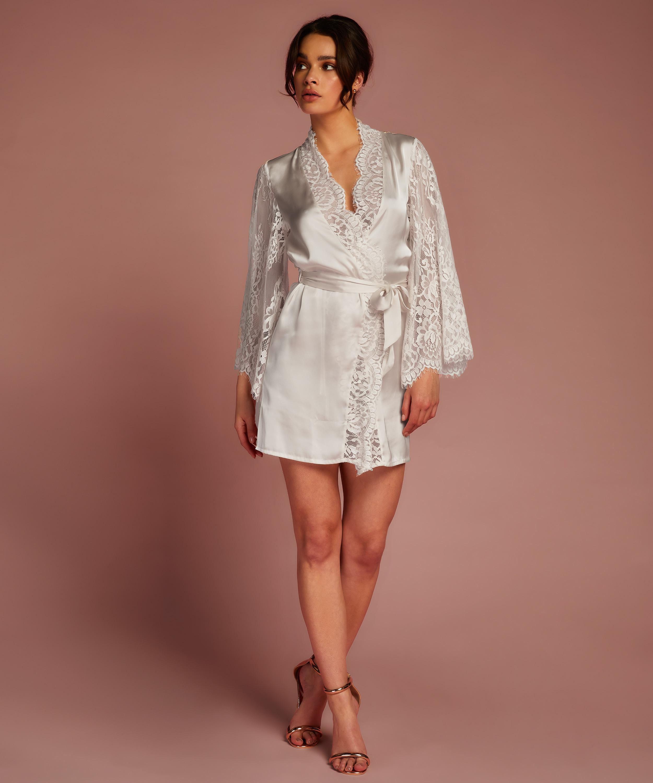 Kimono All Over Lace, Beige, main