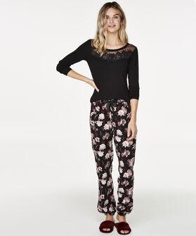 Pyjamabroek Woven, Zwart