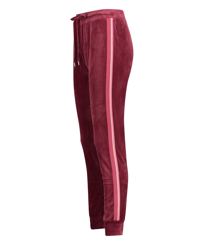 Joggingbroek Velours Stripe, Rood, main