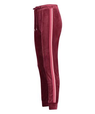 Joggingbroek Velours Stripe, Rood