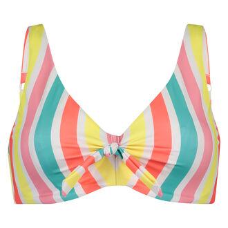 Niet-voorgevormde beugel bikinitop Tropics, Wit