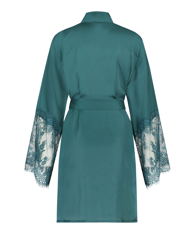 Kimono Satin, Blauw, main