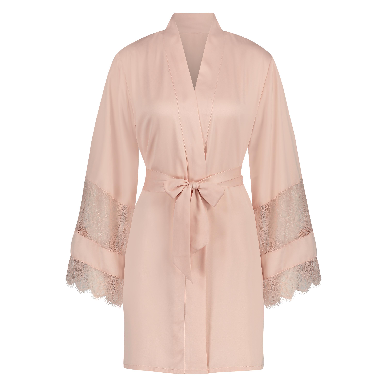Kimono satin lace, Roze, main