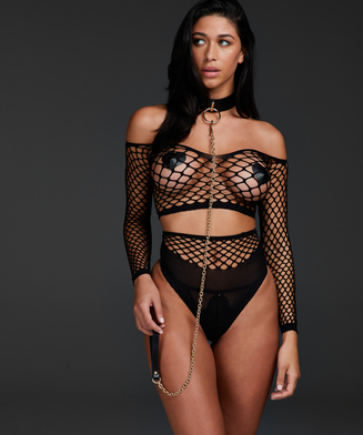 Private Fishnet Set, Zwart