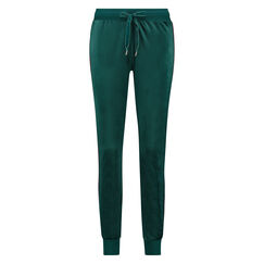 Joggingbroek Velours Stripe, Groen