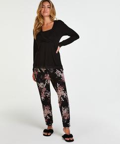 Voedings pyjamaset , Zwart