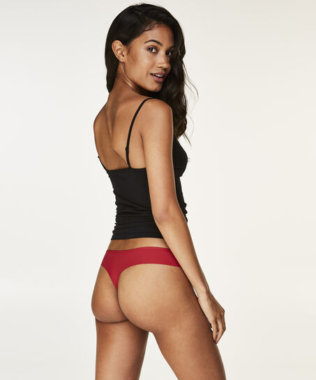 String Invisible lace front micro back, Rood