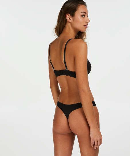 2-pack strings Angie, Zwart