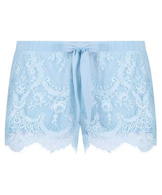 Pyjama short Jersey lace, Blauw