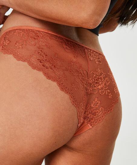 Invisible Brazilian Lace Back, Bruin