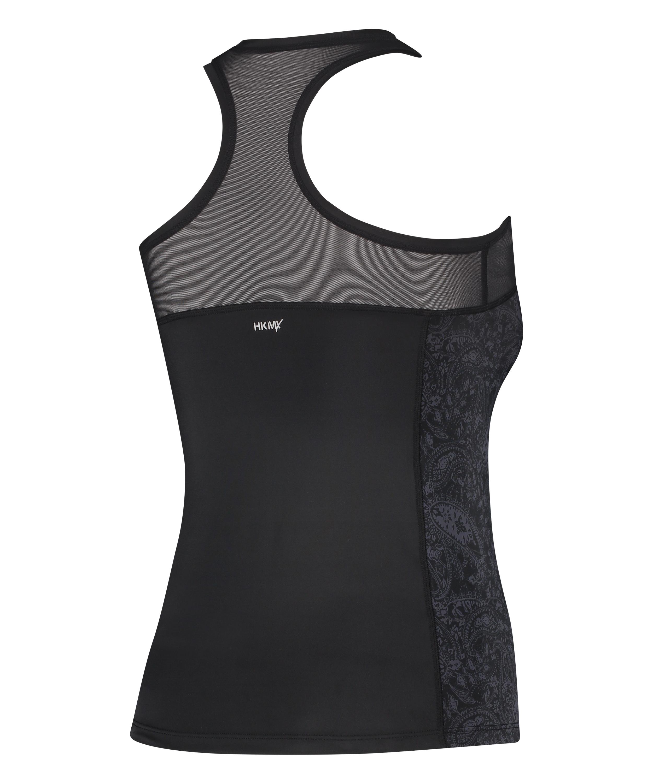 HKMX Sport slim fit tank top, Zwart, main