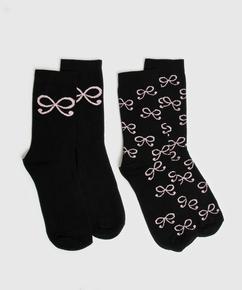 2 paar Katoenen Sokken, Zwart