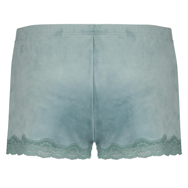 Shorts Velours Lace, Groen, main