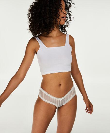 Brazilian V-shape mesh, Wit