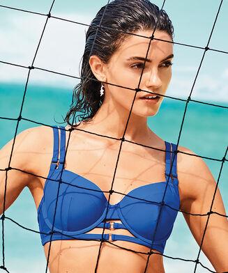 Voorgevormde beugel bikinitop Shore Game, Blauw