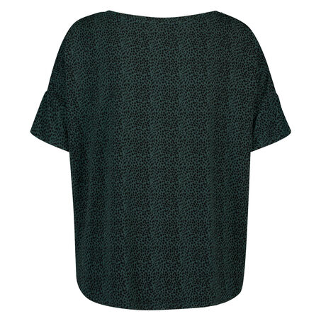 Pyjama top korte mouwen loose fit, Groen