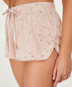 Shorts Velours Ster - Pink Ribbon, Roze