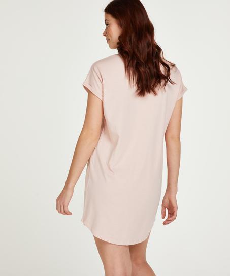 Nachthemd korte mouwen Dream, Roze