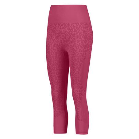 HKMX high waist capri sport legging level 3 Leopard, Roze