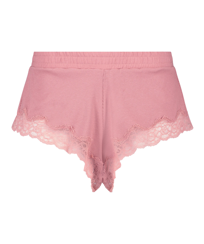 Short rib lace Mia HKM x NA-KD, Roze, main