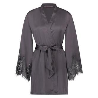 Kimono Satin lace, Grijs