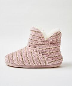 Pantoffels Chenille, Roze