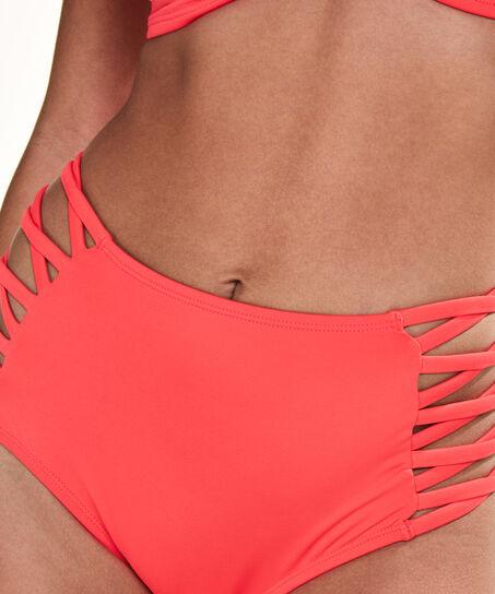 Hoog cheeky bikinibroekje Sunset Dream, Rood