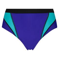 HKMX Hoog cheeky bikinibroekje, Blauw