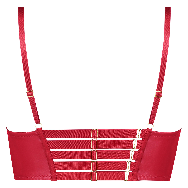 Voorgevormde longline push-up beugel bh Kennedy, Rood, main