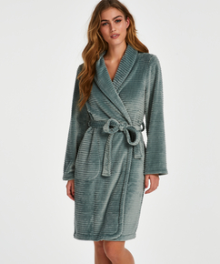 Korte badjas Fleece rib, Groen