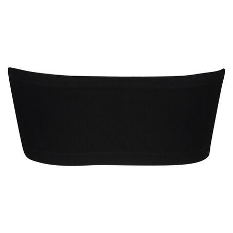 Naadloze bandeau top, Zwart
