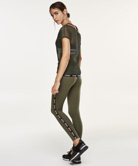 HKMX Off-shoulder sport t-shirt, Groen