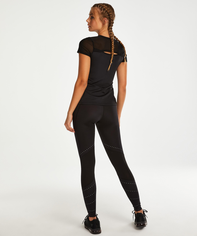 HKMX Sport Shirt Open Rug, Zwart, main
