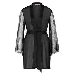 Kimono Mesh lace, Zwart