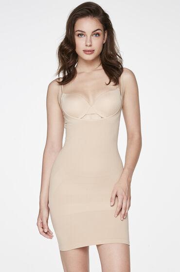 Naadloze WYOB corrigerende jurk Huidskleur