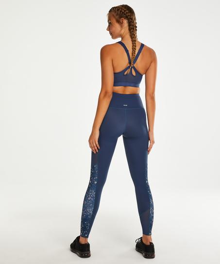 HKMX High waisted sport legging, Blauw