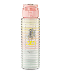 Patched infused water bottle, Roze