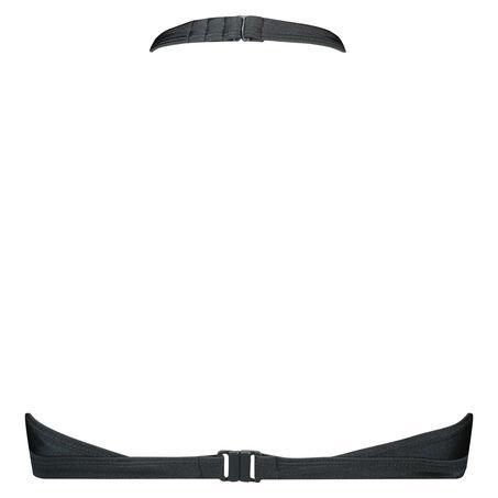 High neck triangle bikinitop, Grijs