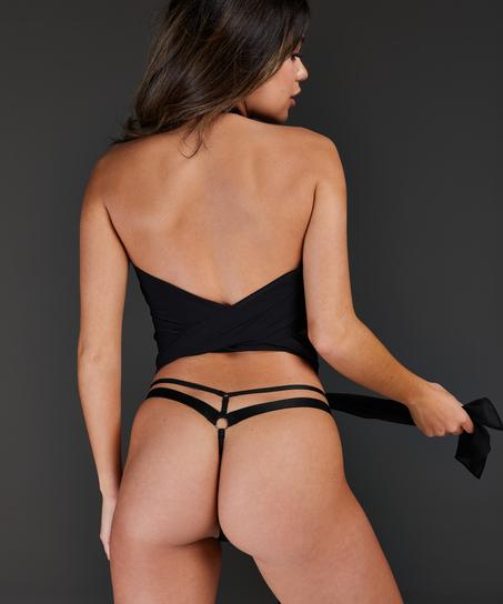 Private wrap top, Zwart