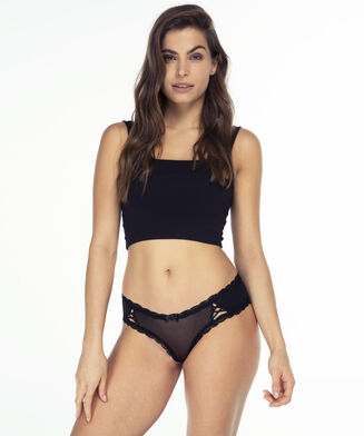 V-shape brazilian Kyla, Zwart