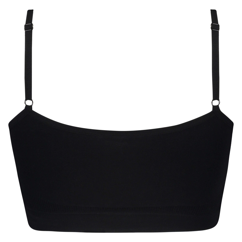 Seamless strappy top, Zwart, main