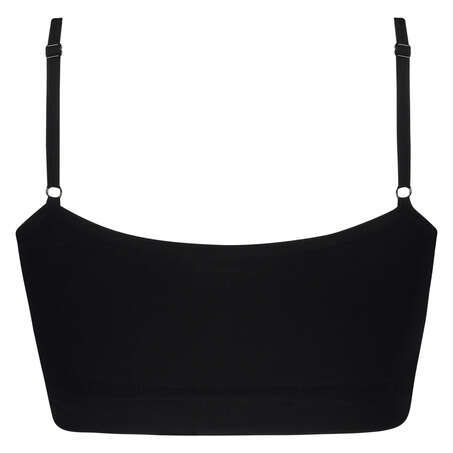 Seamless strappy top, Zwart