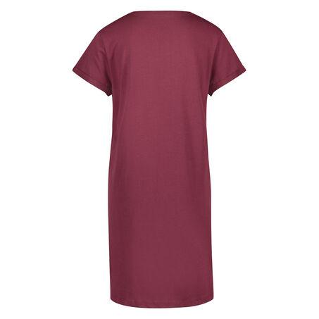 Nachthemd Ronde hals, Rood