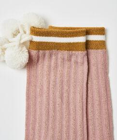 Cosy socks Lurex, Roze